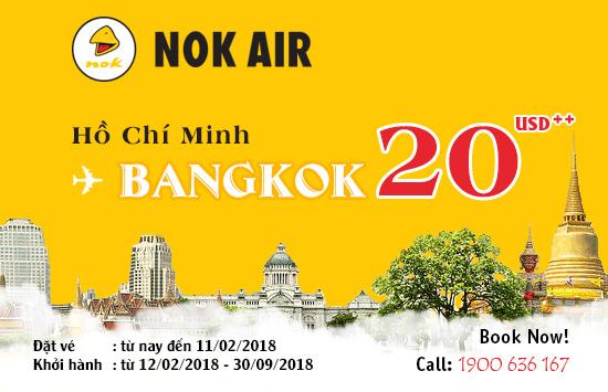 Tưng bừng khuyến mãi Thunderbird: Đi Bangkok chỉ từ 20 USD