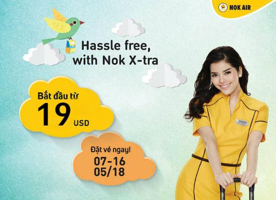 Hassle free with Nok X-tra: Bay đến Bangkok chỉ 19 USD