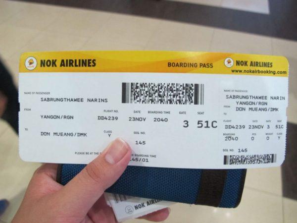 Đổi vé máy bay Nok Air