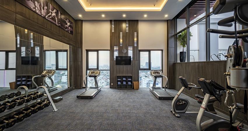 Phòng gym Khách sạn mường thanh luxury sai gon