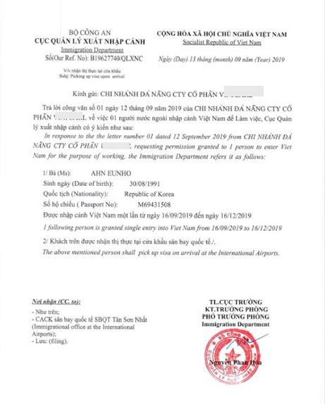 Dịch vụ Công văn nhập cảnh - visa nhập cảnh Việt Nam
